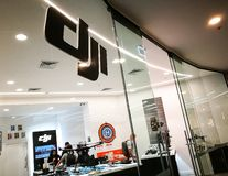 DJI Store Drones, aerial photography systems Gimbals, Camera Stabilizers and Accessories. the image of shopfront at shopping mall. SYDNEY, AUSTRALIA. – On royalty free stock photo
