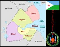 Djibouti Administrative divisions Stock Photo