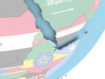 Djibouti avec le drapeau illustration de vecteur