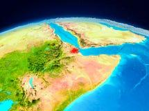 Djibouti d'orbite Photos libres de droits