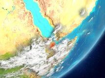 Djibouti de l'espace illustration de vecteur