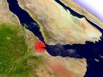 Djibouti de l'espace accentué en rouge Photo libre de droits