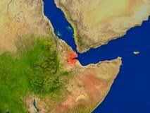 Djibouti de l'espace en rouge Images stock