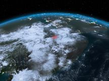Djibouti de l'espace la nuit illustration stock