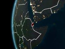 Djibouti de l'espace la nuit illustration libre de droits