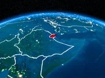 Djibouti de l'espace la nuit Photographie stock libre de droits