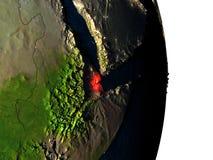 Djibouti de l'espace pendant le crépuscule Image libre de droits