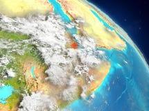 Djibouti de la órbita ilustración del vector