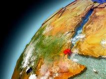 Djibouti de la órbita de Earth modelo Imágenes de archivo libres de regalías