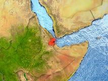 Djibouti en rouge Photos libres de droits
