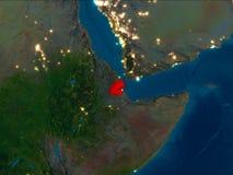 Djibouti en rouge la nuit illustration de vecteur