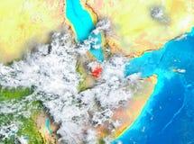 Djibouti en rouge sur terre illustration stock