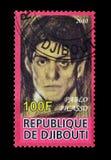 Djibouti en sellos imagen de archivo libre de regalías