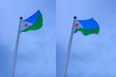 Djibouti Flag Stock Image