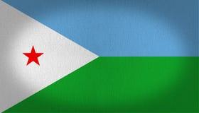 Djibouti flag Stock Image