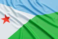 Djibouti flag Stock Photo