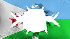Djibouti flagga med ett stort hål stock illustrationer