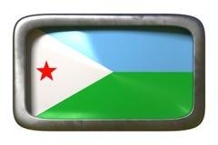 Djibouti flaggatecken vektor illustrationer