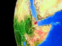 Djibouti från utrymme vektor illustrationer