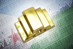 Djibouti gold reserves Royalty Free Stock Photography