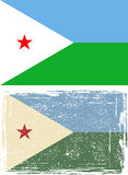 Djibouti grunge flag. Vector illustration Stock Image