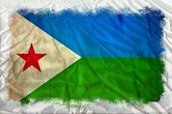 Djibouti grungeflagga vektor illustrationer