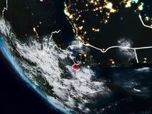 Djibouti la nuit de l'espace illustration de vecteur