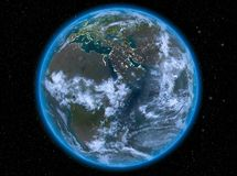 Djibouti la nuit sur terre Image stock