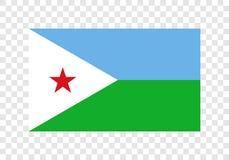 Djibouti - nationsflagga royaltyfri illustrationer