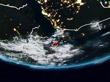 Djibouti pendant la nuit illustration stock