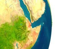 Djibouti on planet Royalty Free Stock Image