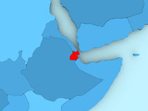 Map of Djibouti Stock Photo