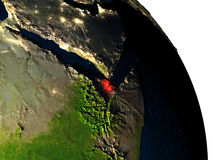 Djibouti from space Royalty Free Stock Image