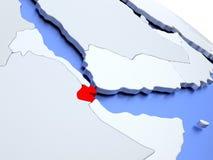 Djibouti sur la carte du monde Photographie stock