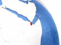 Djibouti sur le globe élégant Image libre de droits
