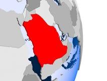 Djibouti sur le globe illustration stock
