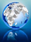 Djibouti sur le globe illustration libre de droits