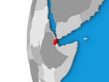 Djibouti sur le globe Image stock
