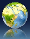 Djibouti sur le globe avec la réflexion Images stock