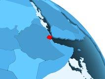 Djibouti sur le globe bleu illustration de vecteur