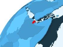 Djibouti sur le globe bleu illustration stock