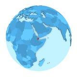 Djibouti sur le globe d'isolement Photographie stock libre de droits