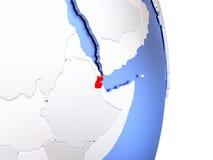 Djibouti sur le globe 3D moderne élégant Images libres de droits