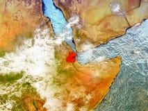 Djibouti sur le globe illustré Photo stock