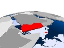 Djibouti sur le globe politique illustration stock