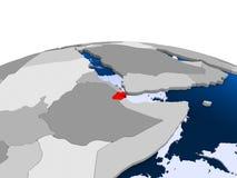Djibouti sur le globe politique illustration de vecteur