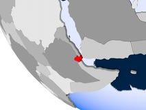 Djibouti sur le globe politique illustration libre de droits
