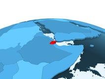 Djibouti sur le globe politique bleu illustration libre de droits