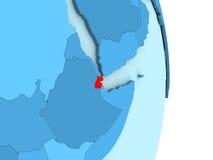 Djibouti sur le globe politique bleu Photographie stock libre de droits