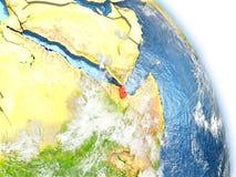 Djibouti sur le modèle de la terre Photo libre de droits